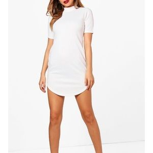 Boohoo NWOT White Mini Dress Size 6 US